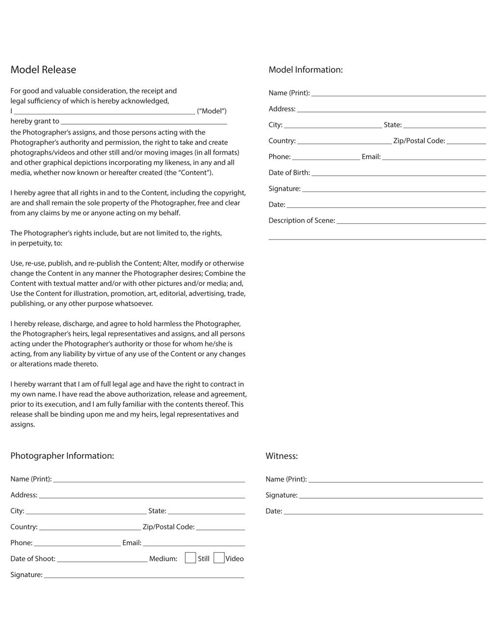 Makeup artist model release form template - Gary oldman next movie
